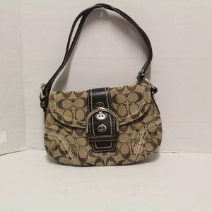 Coach K0769-10602 Jaquard Brown Shoulder Bag